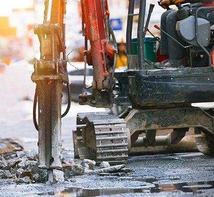 Commercial-concrete-repair-and-replacement-tearing-out-road