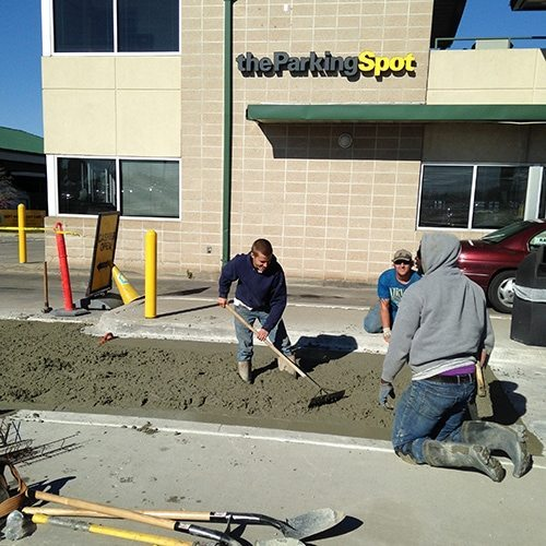 concrete pavement project
