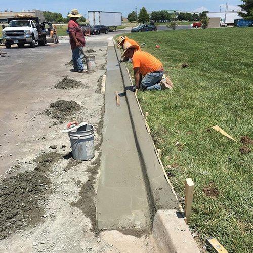 Property management-curb repair