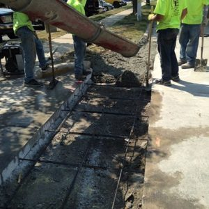 Concrete Sidewalk And Curb Construction