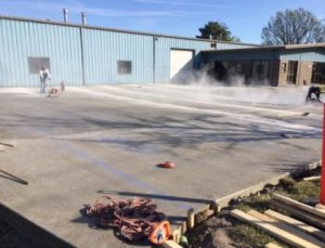 Concrete parking lot paving 1 commercial concrete contractor in kansas city | k&e flatwork