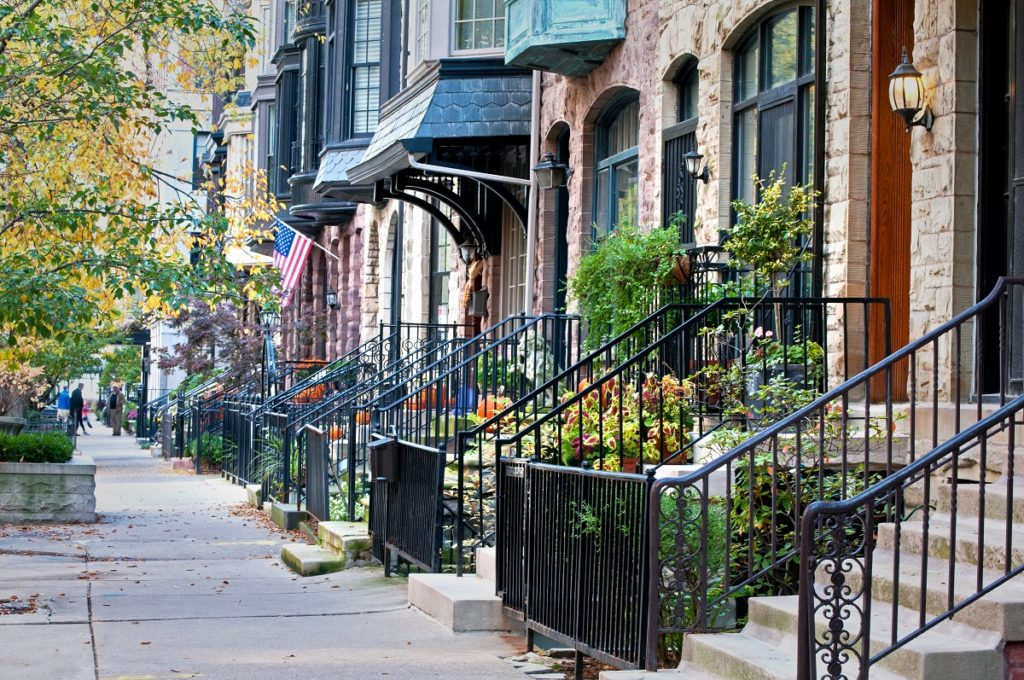 residential street sidewalk