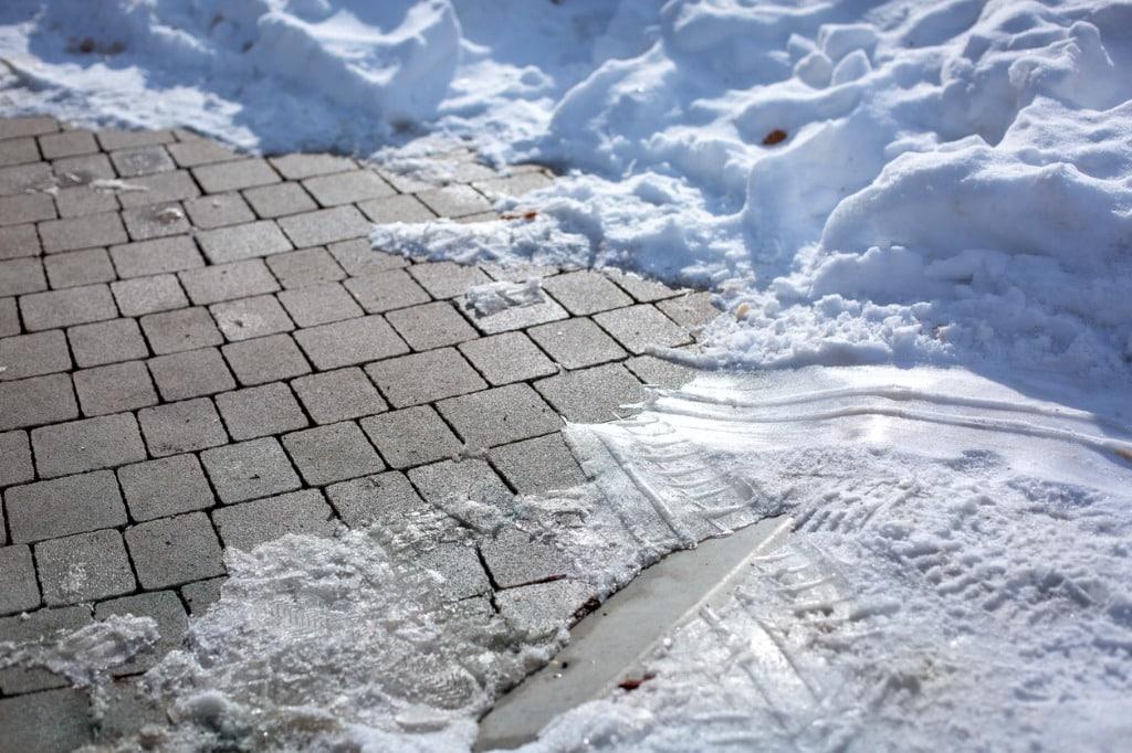 Snow-covered-concrete